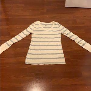 White cream and gray shirt